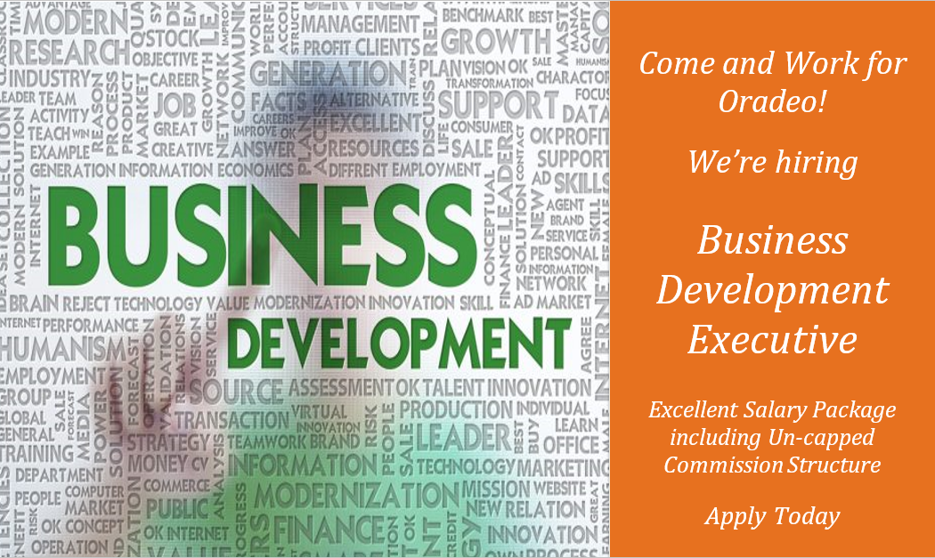 Business Development Executive Job In Dublin West Oradeo